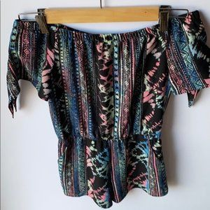 Other - Girls Romper Tribal Design Multi Color Sz Small